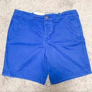 Hollister Blue Flat Front Button Fly Shorts